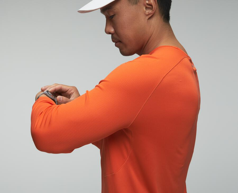 Performance-shirt met driekwartmouw