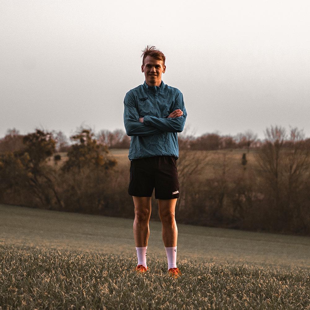 Ruben standing in the field