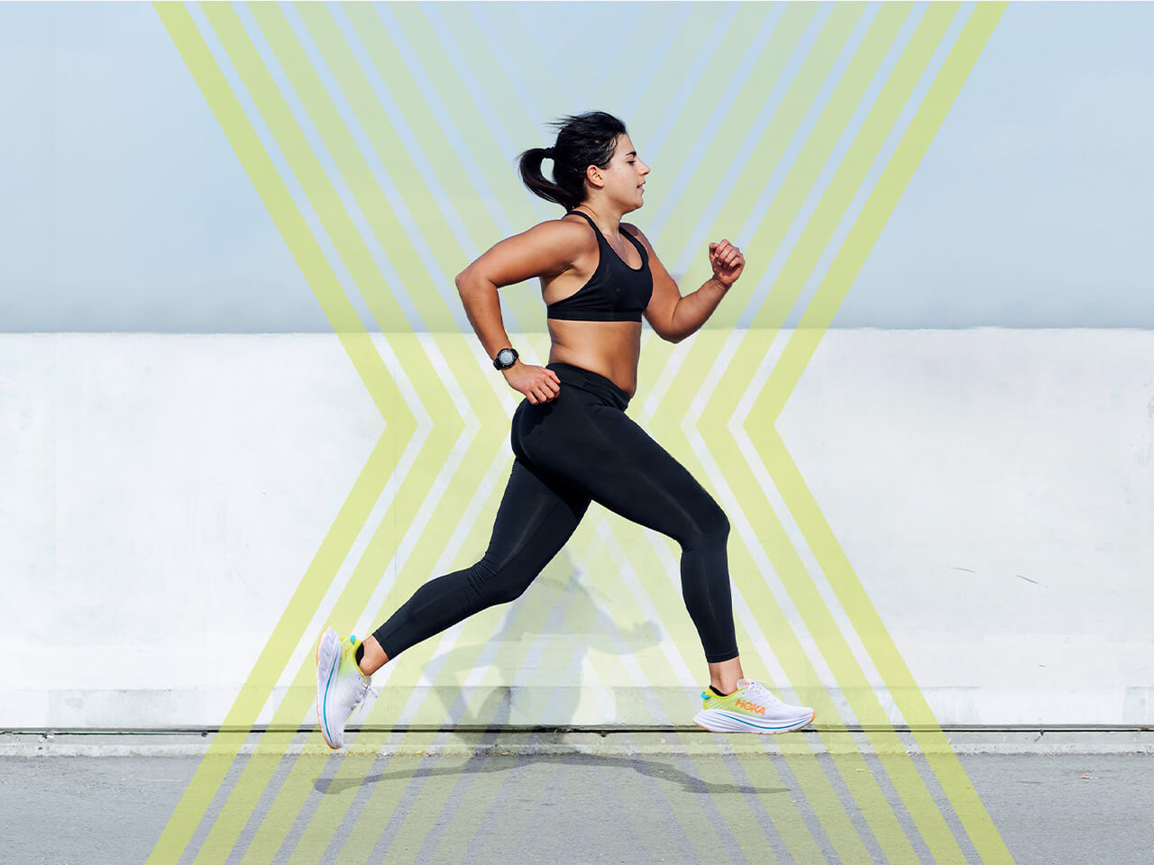 Woman running with the Bondi X