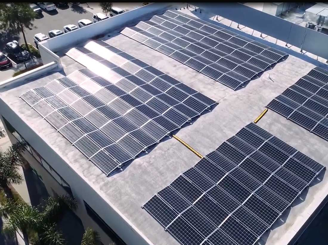 A picture of solar panels