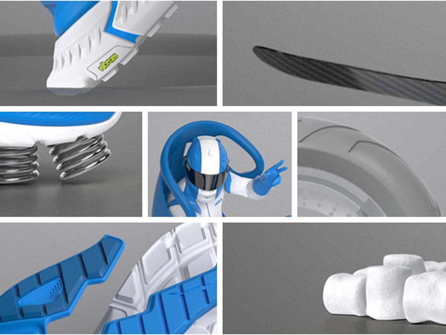 Images showing how Hoka Shoes are cushioned