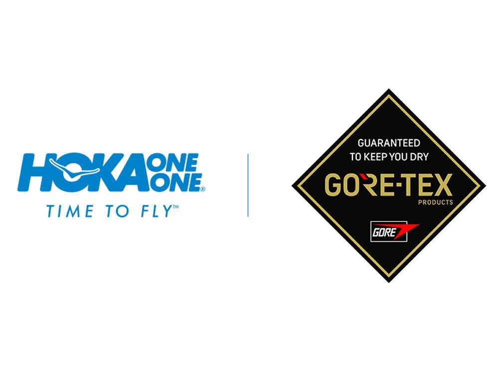 The HOKA One One Logo and the Goretex Logo